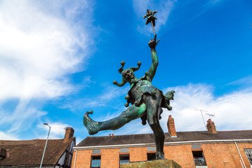 Jester statue in Stratford upon Avon Wall mural