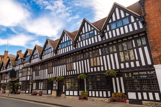 Half-timbered house in Stratford upon Avon