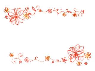 写真の検索 花の飾り枠