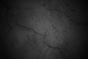 gloomy wall background, black texture cement surface