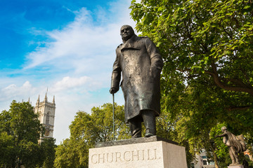 Statue of Winston Churchill in London
