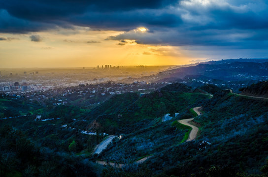 Sunset from the Hollywood Hills