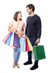 Couple carrying some shopping bags