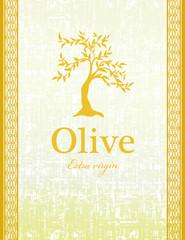 beautiful olive golden vintage label design