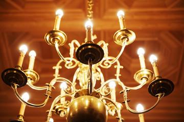 Elegant golden chandelier