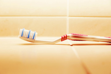 toothbrush in the bathroom