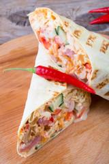 Spicy burrito rolls