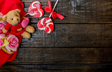 Valentines day and Sweetest day, love concept