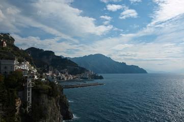 amalfi view on the Amalfi coast