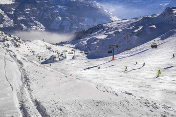 Ski fahren im Hochzillertal