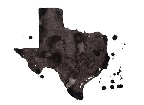 Texas grunge map. Retro distressed illustration with state map.