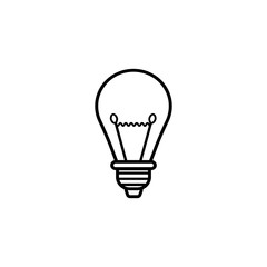 Light lamp line icon, Education and business element, idea and bulb vector graphics, a linear pattern on a white background, eps 10.