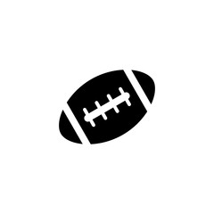 American football ball solid icon, college and sport element, rugby vector graphics, a filled pattern on a white background, eps 10.