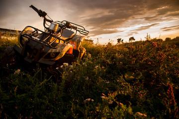 ATV  in sunset