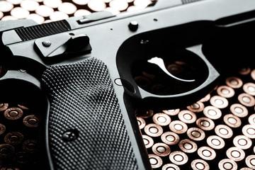Gun on bullets