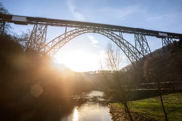 the high muengstener railway bridge in germany