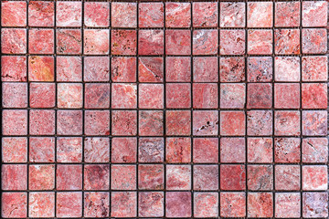 Mosaics made of travertine, Bulgarian stone, decorative wall tiles