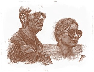 Drawing Of Man And Woman Couple