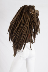 Black woman and her long dread locks
