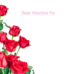 St.Valentines postcard with red roses