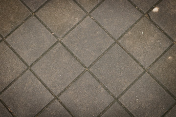 Tile stone on the floor at outdoor