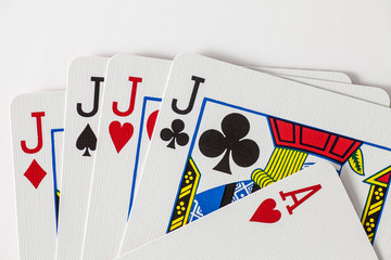 Playing Cards 4 jacks