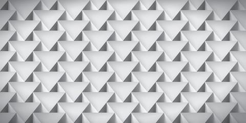 Realistic texture, volume triangles, gray geometric pattern, vector design 3d wallpaper