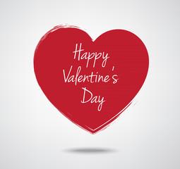 Valentine's Day typography  heart label brush stroke style  love symbols