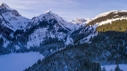 Swiss Winter - Snowy mountains