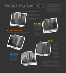 Infographic Timeline Template with photos