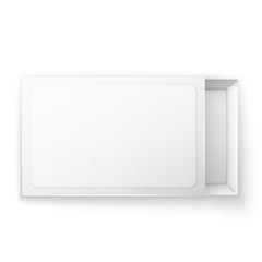 Blank empty white paper packaging