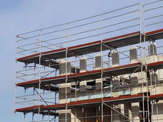 Bauwirtschaft - Bauen - Hochbau - Baugerüst - Arbeitssicherheit