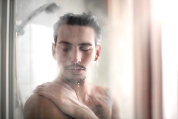 Doing a shower