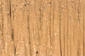 Close Up of eroded sandstone pillars or columns and cliffs at Sao Din Na Noi, sri nan national park,Nan province,Thailand
