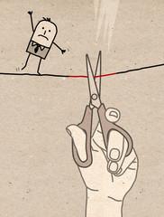 Big Hand - cutting the wire