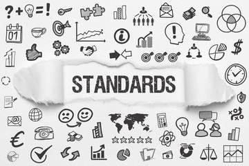 Standards / weißes Papier mit Symbole