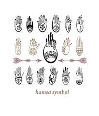 Hamsa. Boho style