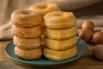 pille of fresh donuts