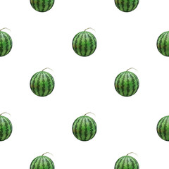 Seamless background of watermelon, vector illustration.