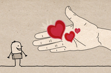 Big Hand - offering hearts