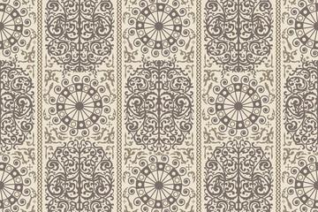 Beige ancient vintage seamless ornamental texture. Vector illustration