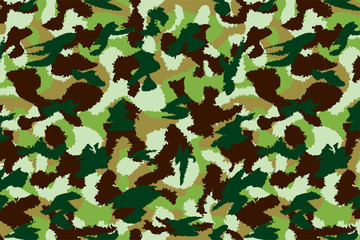 War universal nature camouflage seamless pattern. Can be used for wallpaper, pattern fills, web page background, surface textures. Vector illustration