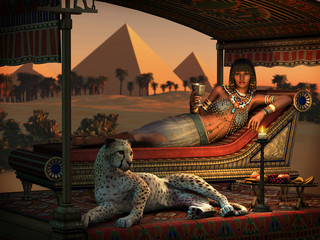 Dinner at the Pyramids, 3d CG