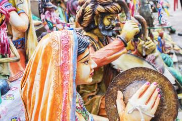 Clay made dolls , handicraft items on display , Kolkata