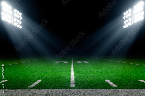 American Football Stadium Background Stock Photo And