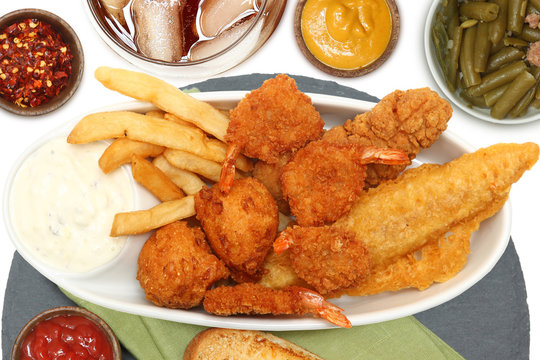 Southern Fried Fish, Chicken and Shrimp