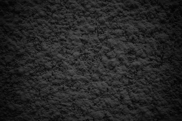 black abstract wall, dark cement texture as background