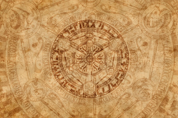 Esoteric background. Backdrop for magic, astrology, alchemy.