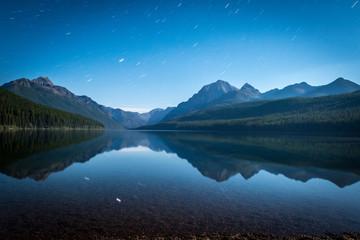 night time on the lake