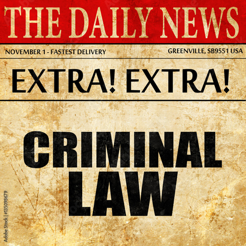 criminal law in the news essay Writing law essays criminal law essays deal with studies which refer to different codes of rules in various jurisdictions which are our news custom book.